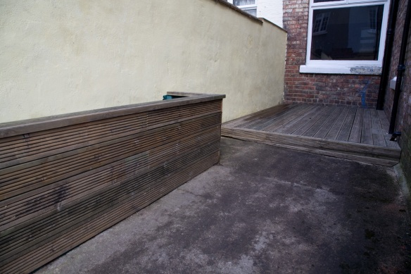 Decking and rased bed