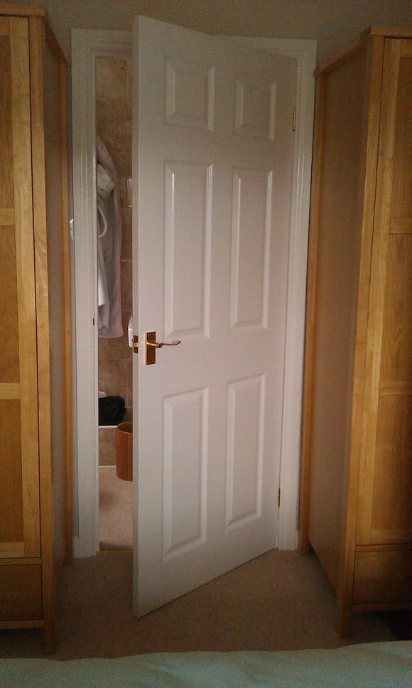 Door hung