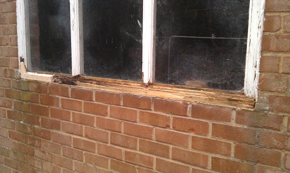 Rottern wood is removed and the old sill.