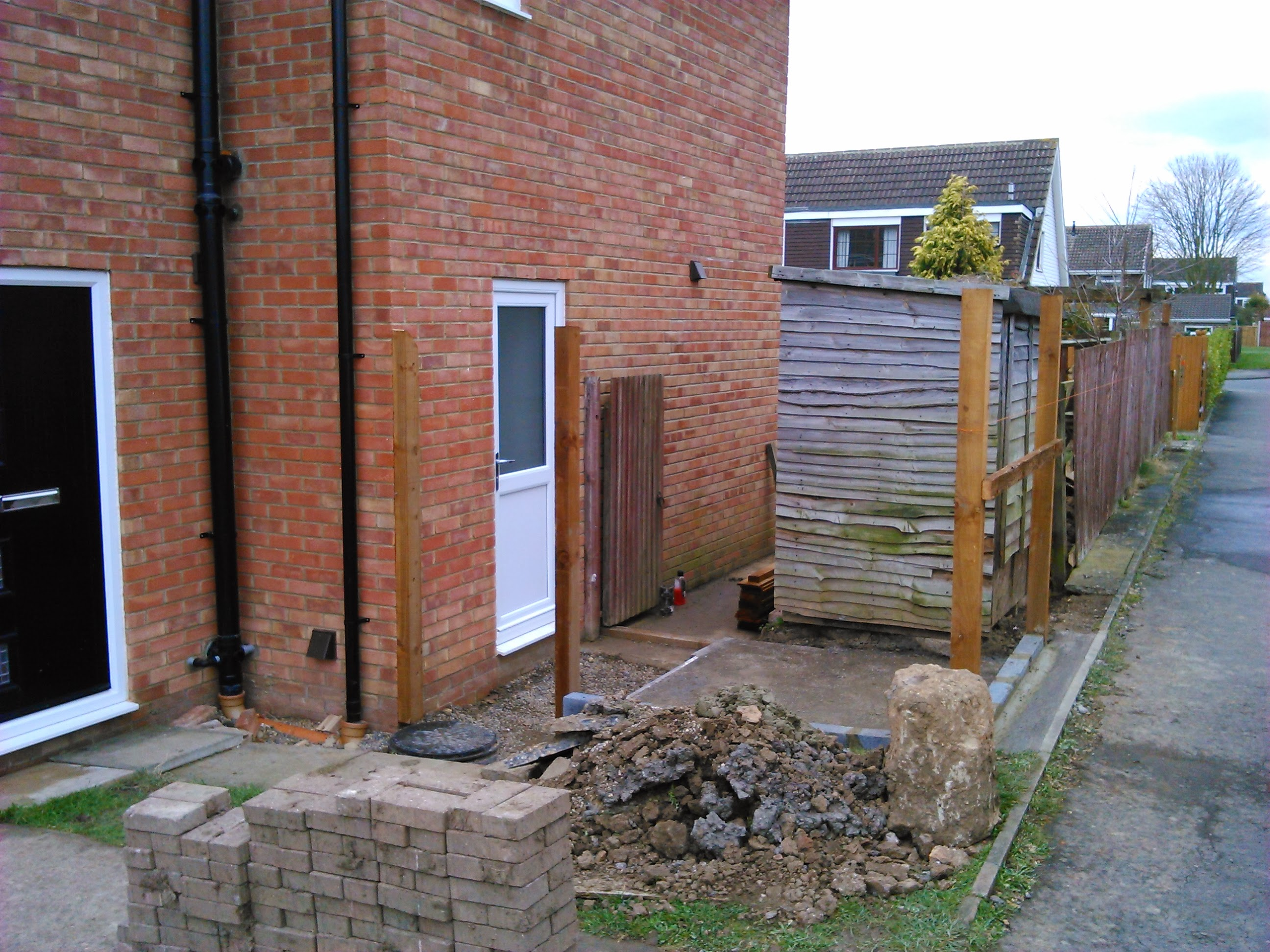 the garden shed and fencing job