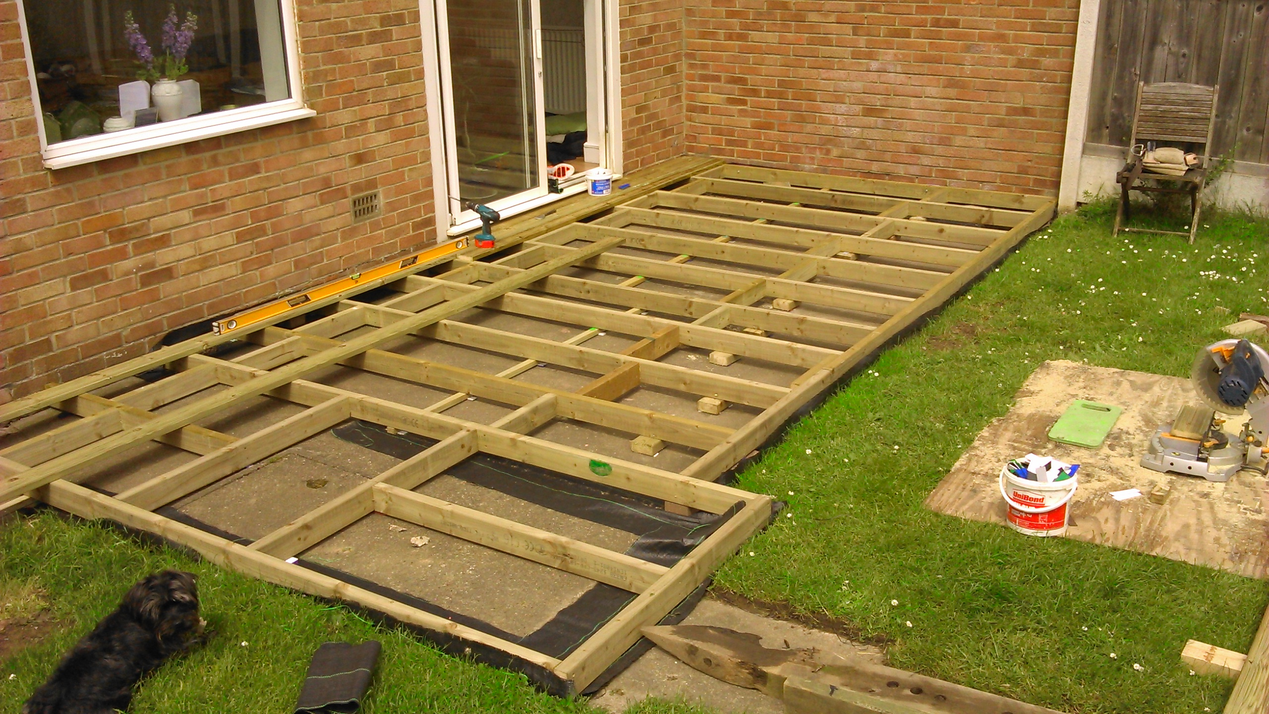 Building decking ashtons handyman property services for Flat pack garden decking