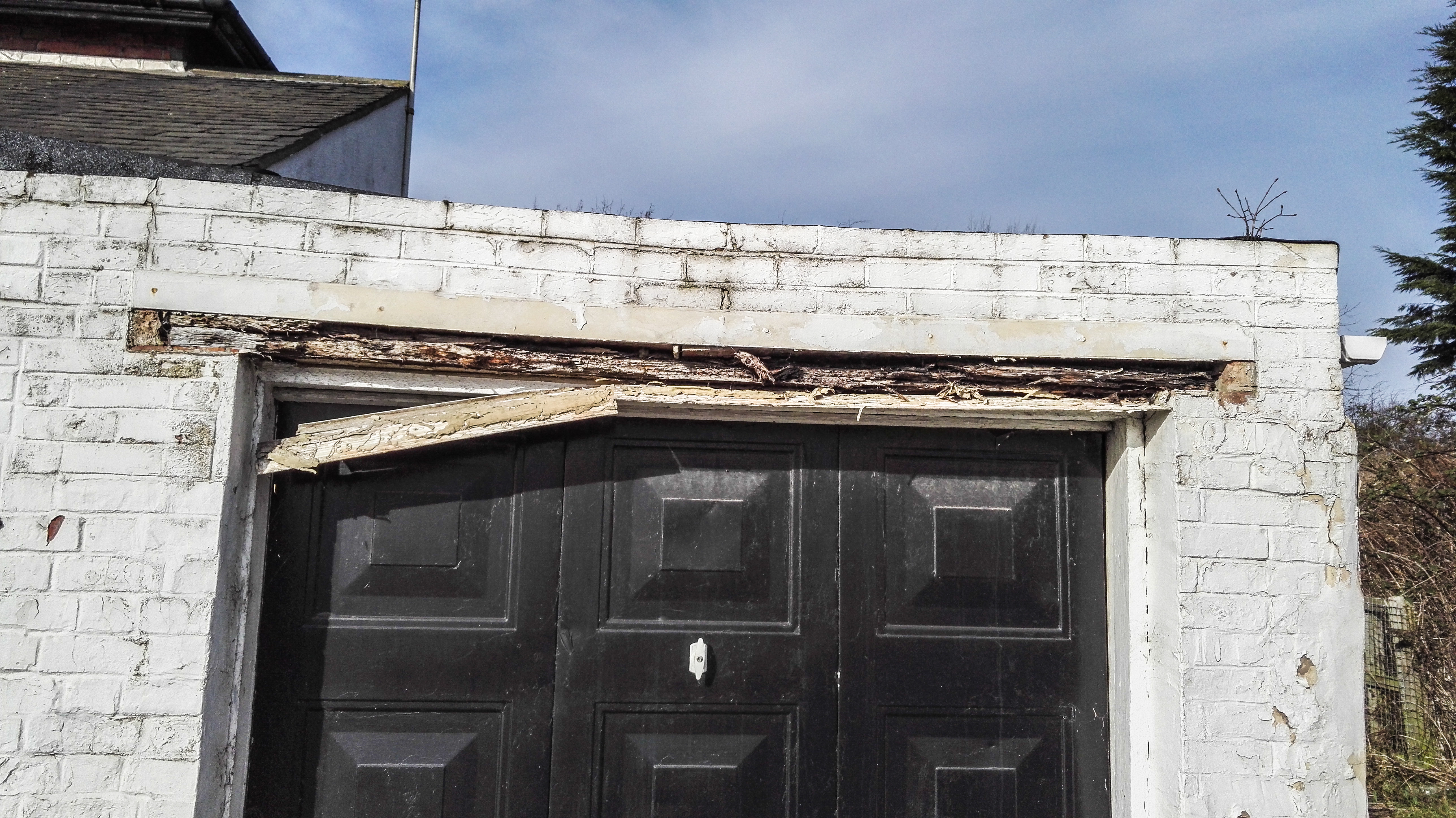 Ashtons Handyman Services & Lintel replaced over garage door | Ashtons Handyman Property Services