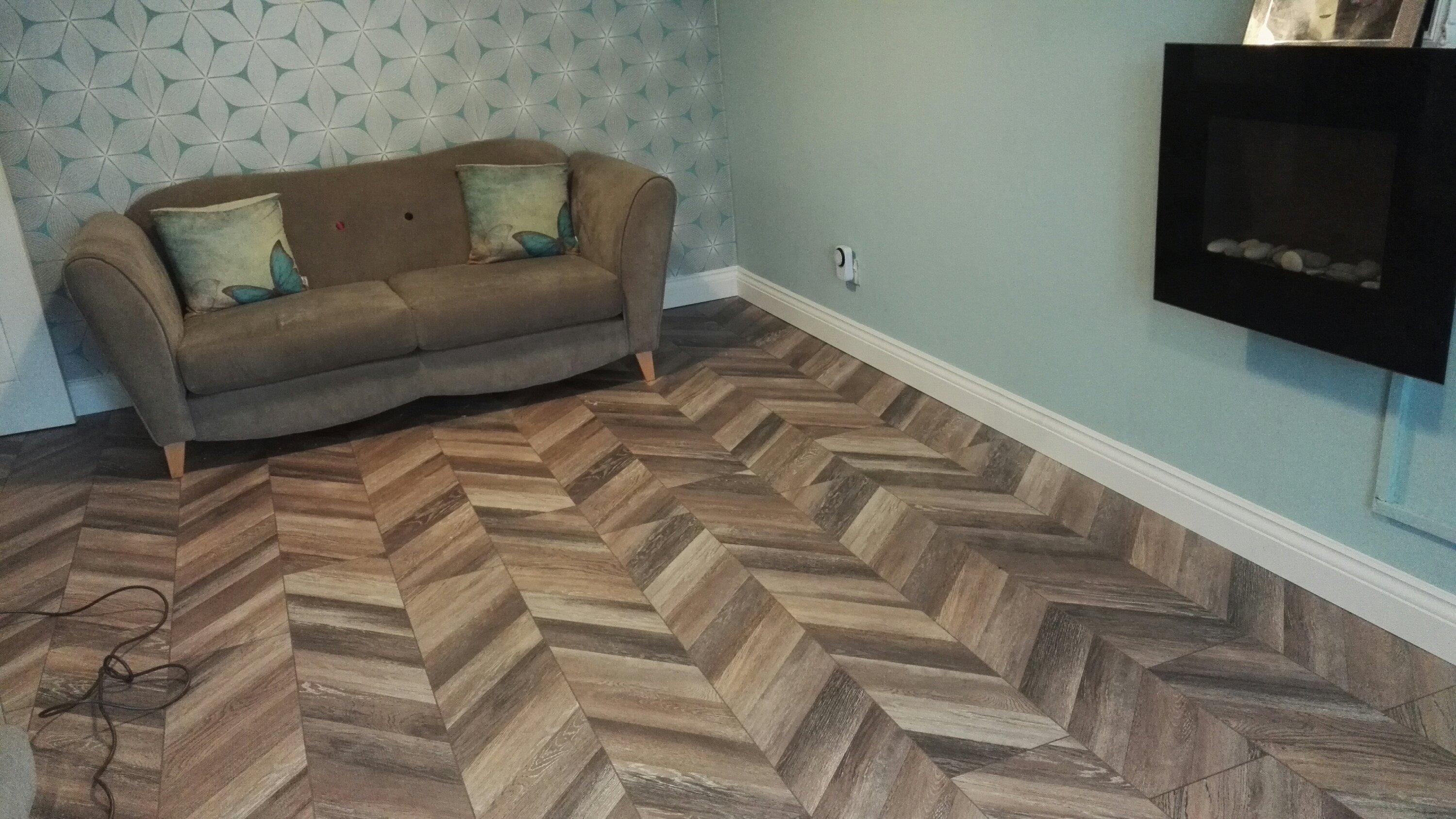 Laminate flooring laid