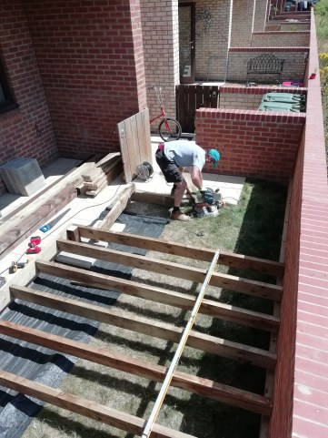 Decking building