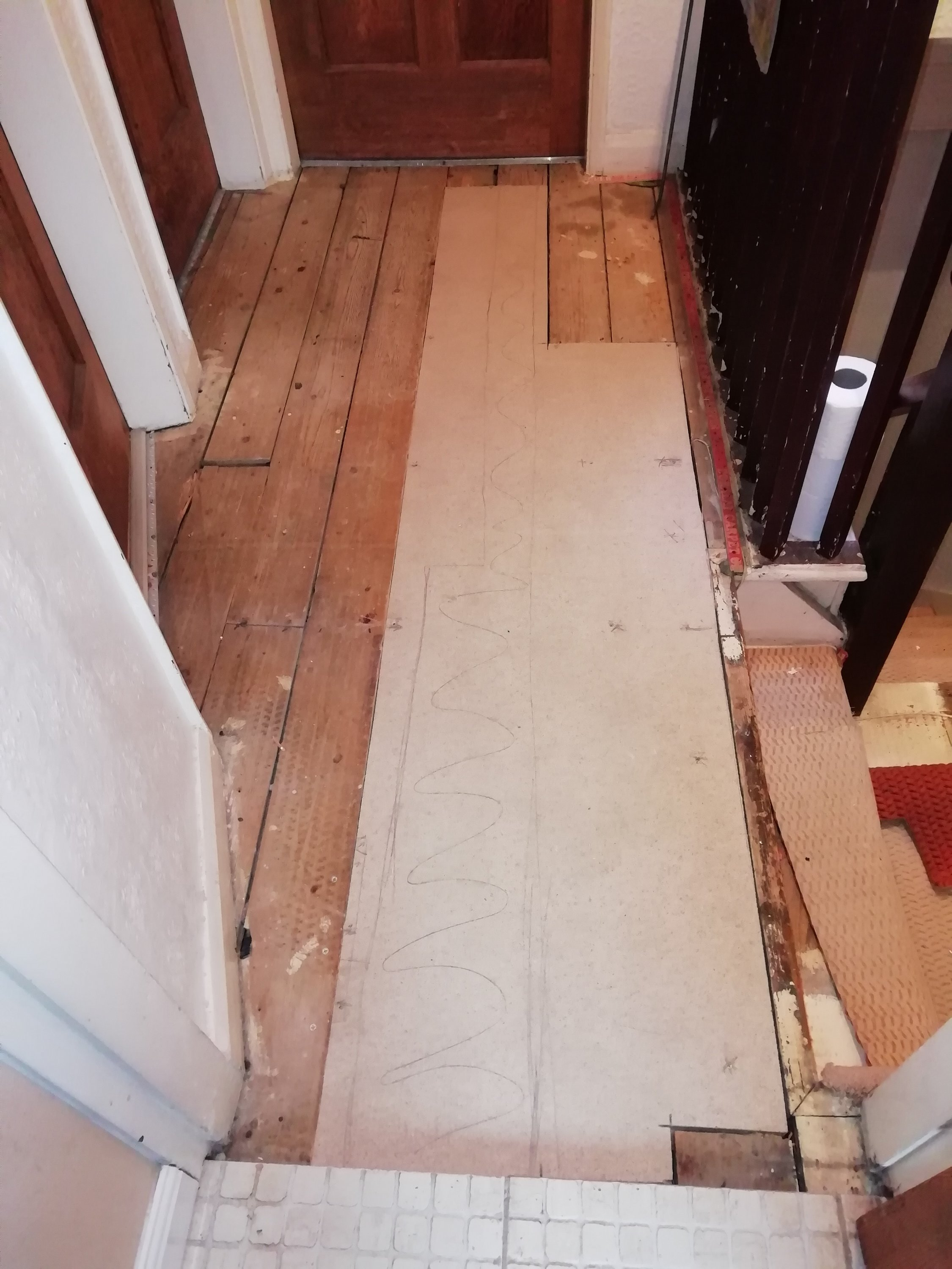 Flooring Replacement with chipboard