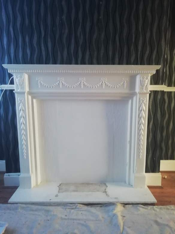 Covering Fireplace