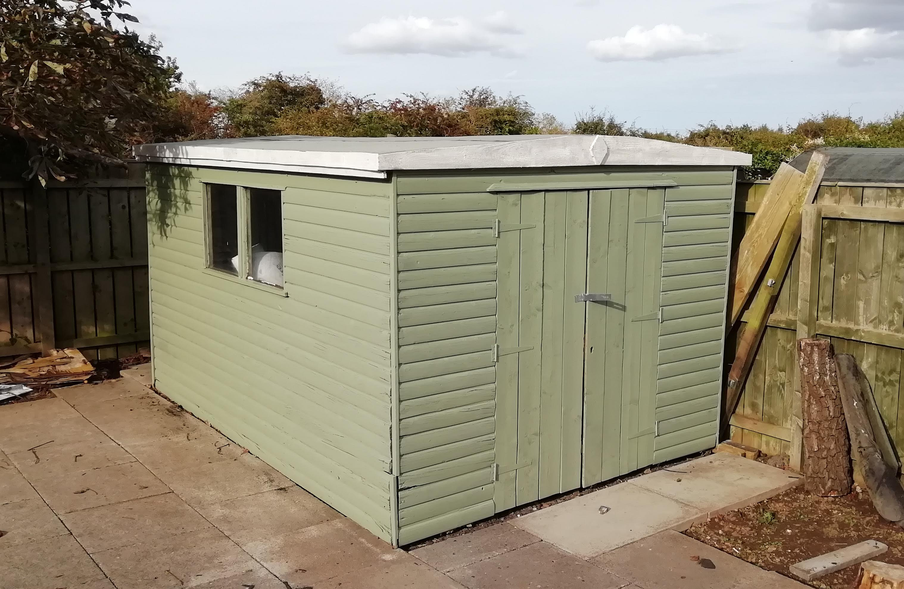 Garden shed renovated